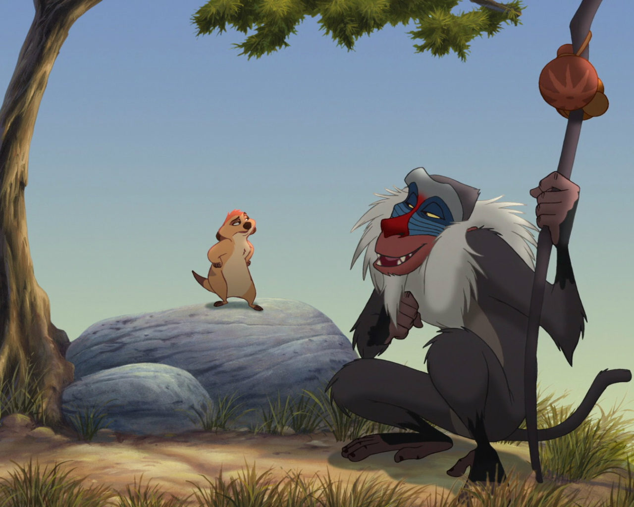 Lion Hd Wallpapers Backgrounds Wallpaper 1920 1080 Picture: Rafiki And Ma Disney Picture Wallpaper Hd 1920x1080